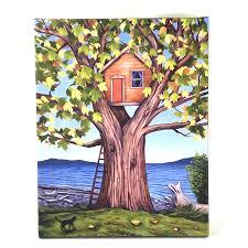 100 Tree House Studio Wood Giclee On Canvas House 4200