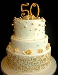 Square Stack 50th Anniversary Cake