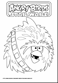 Good Angry Birds Star Wars Coloring Pages With Page And