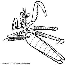 Mantis The Kung Fu Master Coloring Page Color Online Print