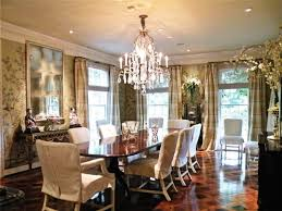Lovely Elegant Formal Dining Room With Dark Brown