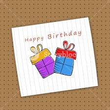 Happy Birthday Celebration Concept With Gift Boxes Design In A Notebook Paper On Brown Background