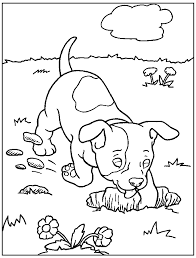 Dogs Printable Coloring Pages 4 Lofty Dog For Kids