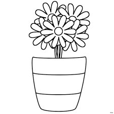 Flower Vase Colouring Pages Flowers Healthy