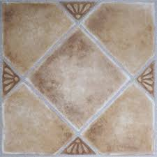 Groutable Self Stick Tile by Nexus Beige Clay Diamond With Accents 12x12 Self Adhesive Vinyl