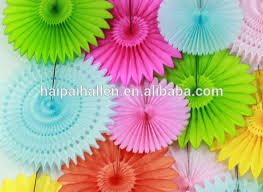 2015 NEW DIY Party Decor Ideas Paper Fan Backdrop Rosette Idea Lovely Decorations