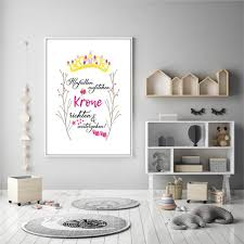 princess crown straightening 2 a4 print modern unframed