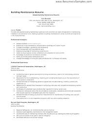 This Is Maintenance Tech Resume Sample For Technician Facilities