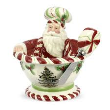Spode Christmas Tree Mug With Peppermint Handles by Santa Claus Dip And Spreader Sets Christmas Wikii