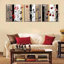 3 stück moderne abstrakte grau rot blumen kunst malerei hause wohnzimmer wand dekoration kunstwerk hd druck bild leinwand unframed