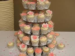 Cake Cupcake Tower Wedding Rustic Vintage