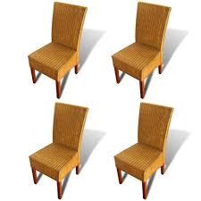 vidaxl esszimmerstühle 4 stk natur rattan braun