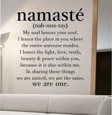 Namaste Definition Quote Wall Decal Vinyl Sticker Art Decor Bedroom Design Mural Home Room Trendy Modern Yoga Peace Love