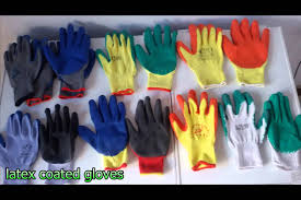 working gloves cotton gloves latex coated nitrile coated pu