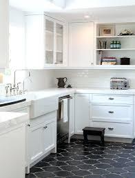 Kitchen Floor Tile Ideas Black Tiles With Dark Cabinets