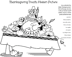 Dinner Coloring Pages Thanksgiving Food Happy
