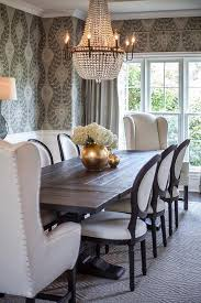 Black And White French Round Back Dining Chairs