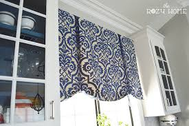 Kitchen Curtain Ideas Diy by No Sew Tie Up Shades The Rozy Home