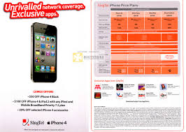 Singtel iPhone 4 Up To 100 Dollar f iFlexi Mobile Broadband