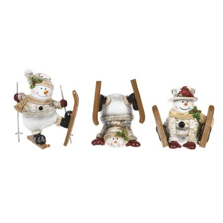 Ganz Whimsy Christmas Ski Snowmen Figurines - Set of 3 #ex26294