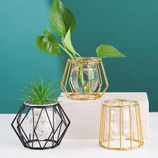 kreative und einfache kleine vase wohnzimmer tisch dekoration glas transparent hydrokultur pflanzen dekoration
