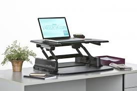 Varidesk Pro Plus 48 by Elevated Desk Stand Raising Standing Height The Varidesk Pro Plus