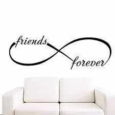 wandtattoos infinity symbol schlafzimmer vinyl aufkleber schlafzimmer wohnkultur freunde für immer unendlich schleife wand zitat wandmalereien lv16