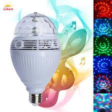oobest smart speaker bluetooth e27 110v 220v led rgb light