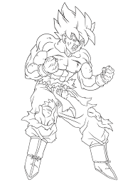 Dragon Ball Z Coloring Pages Goku Ready To Fight