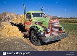 An Old International Farm Truck From The 1930s, On A Farm Near Stock ...