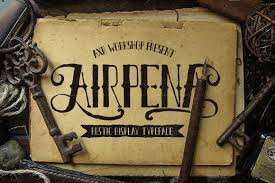 Airpena Rustic Font Display Fonts Creative Market