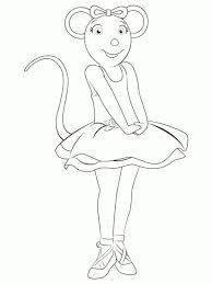 Angelina Ballerina Feeling Excited Coloring Page To Print