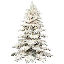 Pre Lit Flocked Christmas Tree by Discount Flocked Artificial Christmas Trees Artificial Christmas