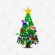 Vector Christmas Tree Png Silver Gold Green PNG And Vector With