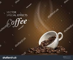 Cup Of Coffee Beans Transparent Background 3d Illustration