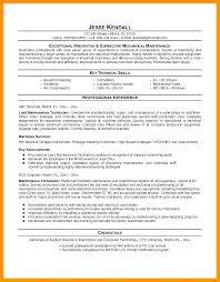 Industrial Mechanic Resume Property Maintenance Technician Sample Al Samples Budget Reporting Engineering