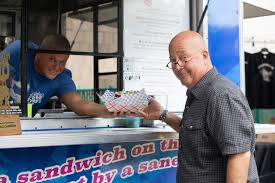 Mike Stanley Hands Andrew Zimmern His Order In His Food Truck ... Andrew Zimmerns Superb Day With Dc Food Trucks Eater Go Fork Yourself With Zimmern And Molly Mogren Listen Via Birmingham The Hottest Small Food City In America Birminghams Fried Big Truck Tip Watch Network Bizarre Viking Working On Menu For New Stadium Andrewzimmnexterior3 Chameleon Ccessions A Oneway Plane Ticket Saved Life Cnn Shoots A Foods Episode Budapest Films At South Bronx It Sure Looks Like Is Opening New Restaurant