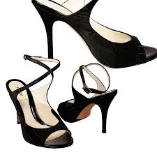 shoes for women black satin open toes 8f2926 ffw07
