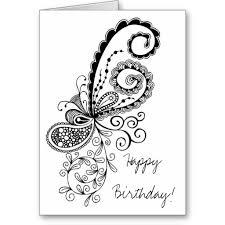 Birthday Card Drawings