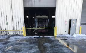 100 Halliburton Trucks RSFD Responds To Truck Fire At