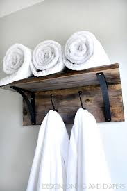 Bathroom Shelf With Towel Bar Wood by Best 25 Towel Shelf Ideas On Pinterest Small Downstairs