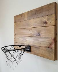 Wall Decor With Functionality This Rustic Style Reclaimed Wood Basketball Hoop Will Not Only Look