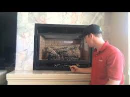 How To Put In A Gas Fireplace by How To Shut Off Gas Fireplace With Standing Pilot Youtube