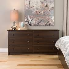 bedroom extraordinary 6 drawer dresser black nightstand mirrored