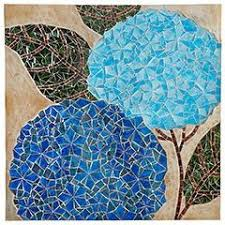 Mosaic Hydrangea Wall Decor From Pier 1 But Use As Inspiration W Paper