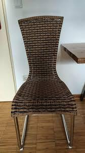 4 esszimmer stühle polyrattan stühle