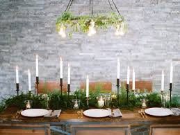 Candle Centerpieces For Dining Room Table by Dining Roomdecorated With Rectangular Frameless Mirror In The Blue