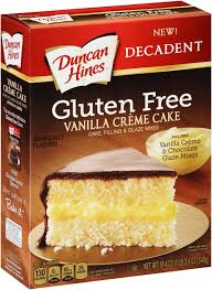 Duncan Hines Gluten Free Vanilla Creme Cake Mix 19 4 oz Box Reviews