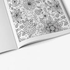 Anti Stress Coloring Book Floral Designs Vol 1 Flower Pattern Page Zoomed In