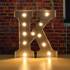 Joy Battery Light Up Circus Letters Warm White LEDs